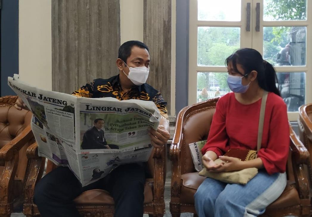 RAMAH: Wali Kota Semarang Hendrar Prihardi saat memberikan keterangan kepada Wartawan Lingkar Jateng belum lama ini. (DOK. LINGKAR.CO)