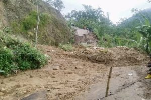 Jalan Penghubung Dua Desa di Banjarnegara Ambles akibat Intensitas Hujan Tinggi