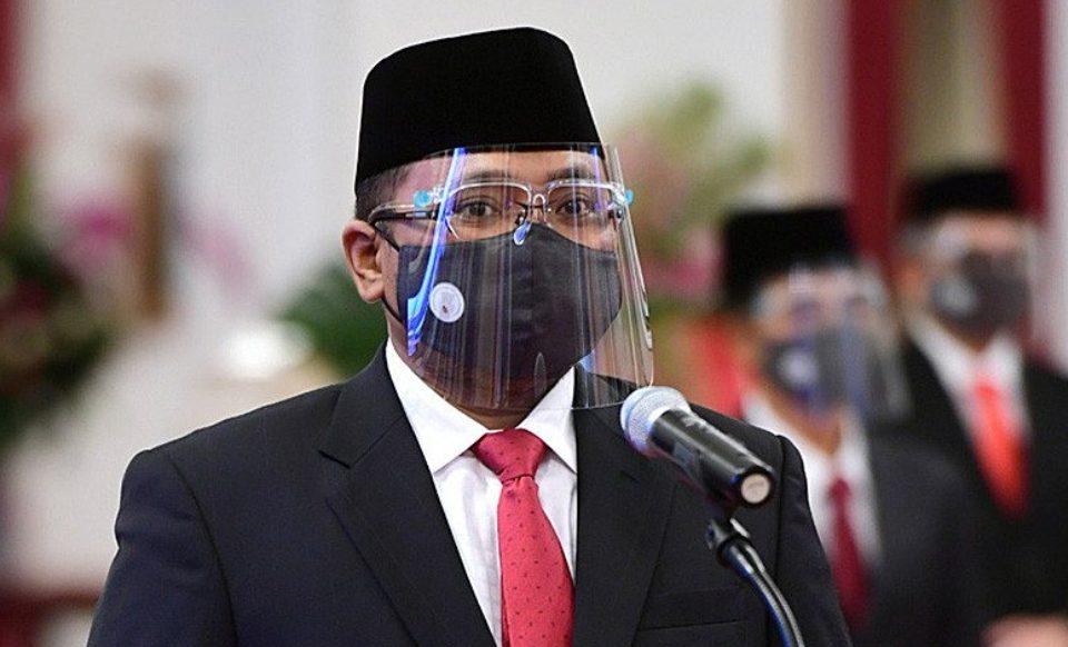 Yaqut Cholil Quomas atau Gus Yaqut saat dilantik sebagai Menteri Agama di Istana Kepresidenan, Jakarta, Rabu (23/12). (ANTARA/LINGKAR.CO)