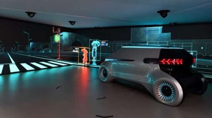 "PROTOTYPE: Kendaraan canggih dari Hyundai yang berteknologi otomatisasi self-driving penuh ""level 4"". (ANTARA/LINGKAR.CO)"