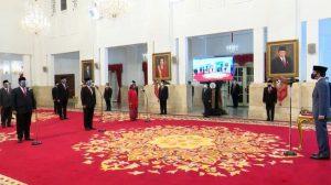 Presiden Jokowi Resmi Lantik 6 Menteri Baru Kabinet Indonesia Maju