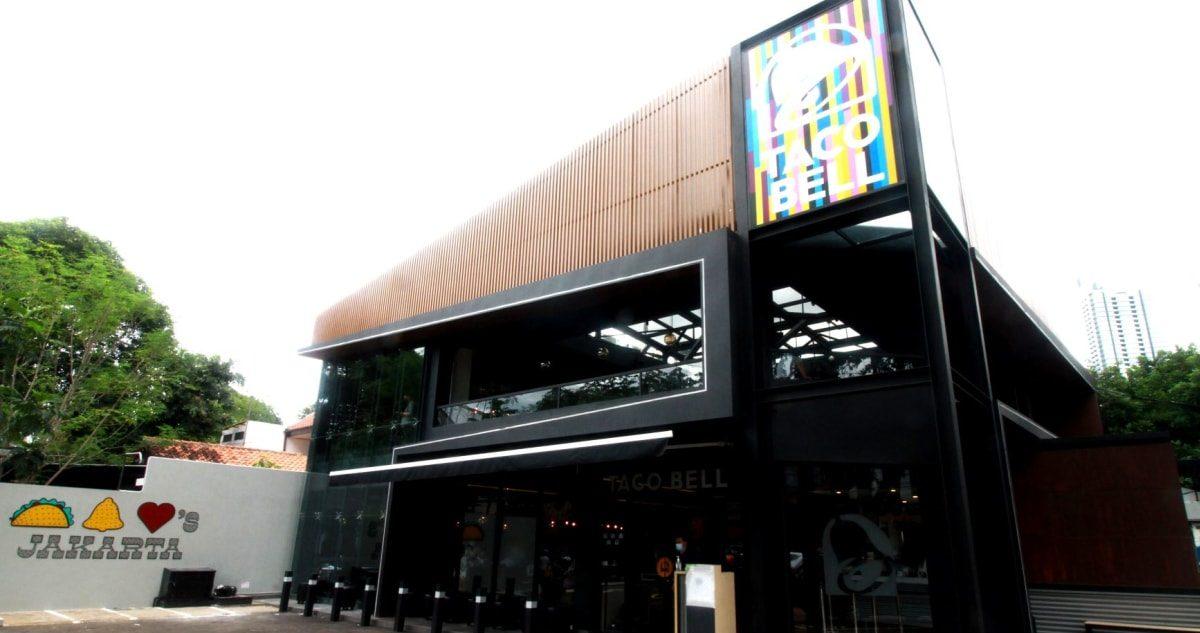 Tampak depan, Gerai Taco Bell Indonesia yang berada di kawasan Senopati baru-baru ini. (ANTARA/LINGKAR.CO)