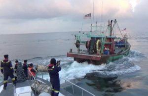 KKP Amankan Dua Kapal Pencuri Ikan Ilegal Berbendera Malaysia di Selat Malaka