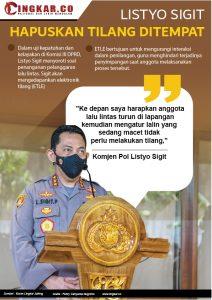 Listyo Sigit Prabowo : Hapuskan Tilangan Ditempat