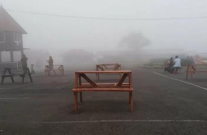 Saujana (sejauh mata memandang) kabut mulai menyelimuti Desa Wisata Serang, Purbalingga, Jawa Tengah.(ANTARA/KORAN LINGKAR JATENG)