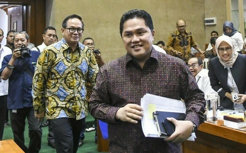 POTRET: Menteri Badan Usaha Milik Negara (BUMN), Erick Tohir usai terbitkan peraturan terkait PMN. (ANTARA/LINGKAR.CO)