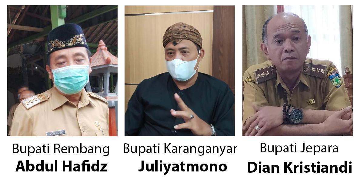 Bupati Rembang Abdul Hafidz, Bupati Karanganyar Juliyatmono, Bupati Jepara Dian Kristiandi