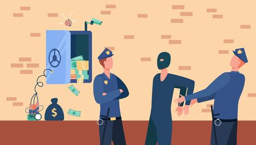 ILUSTRASI: Pelaku penggelapan dana perusahaan di tangkap polisi. (ISTIMEWA/LINGKAR.CO)