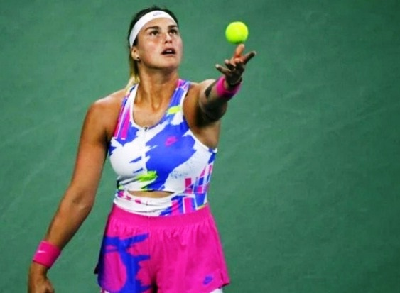 Petenis Belarusia Aryna Sabalenka saat berlaga di US Open, 3 September 2020. (Reuters/Robert Deutsch-USA TODAY Sports/file photo/ANTARA)