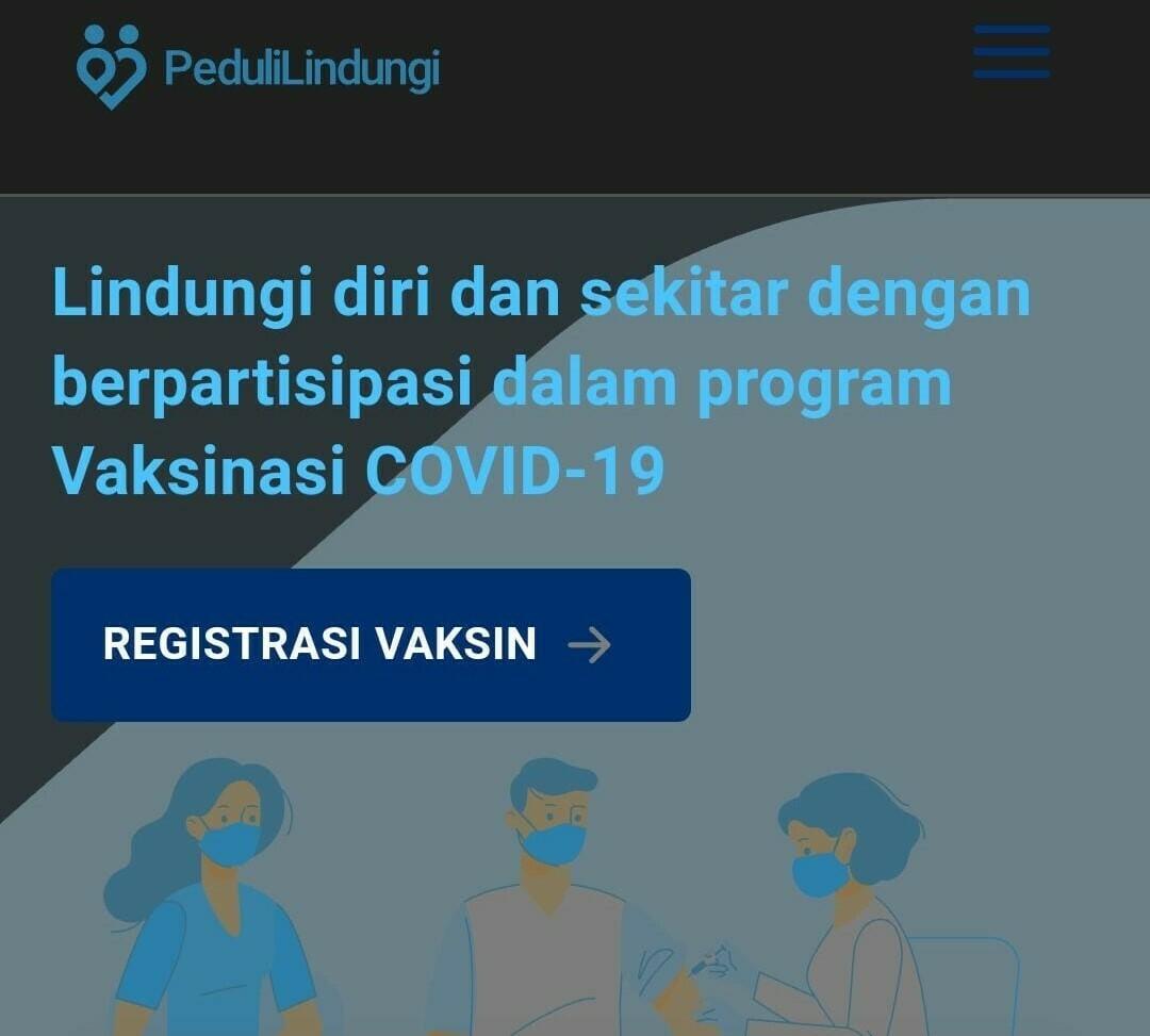 ILUSTRASI: Screenshot Website resmi Pedulilindungi. (ISTIMEWA/LINGKAR.CO)