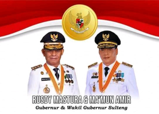 Gubernur Sulteng Rusdy Mastura dan Wakil Gubernur Ma'mun Amir. ISTIMEWA/LINGKAR.CO