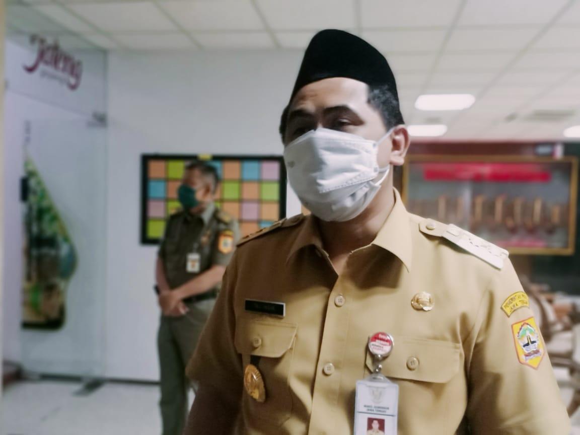 Wakil Gubernur Jawa Tengah Taj Yasin Maimoen, mengimbau kepada masyarakat untuk mau mendonorkan plasma konvalesen agar tidak terjadi kelangkaan. REZANDA AKBAR D/LINGKAR.CO