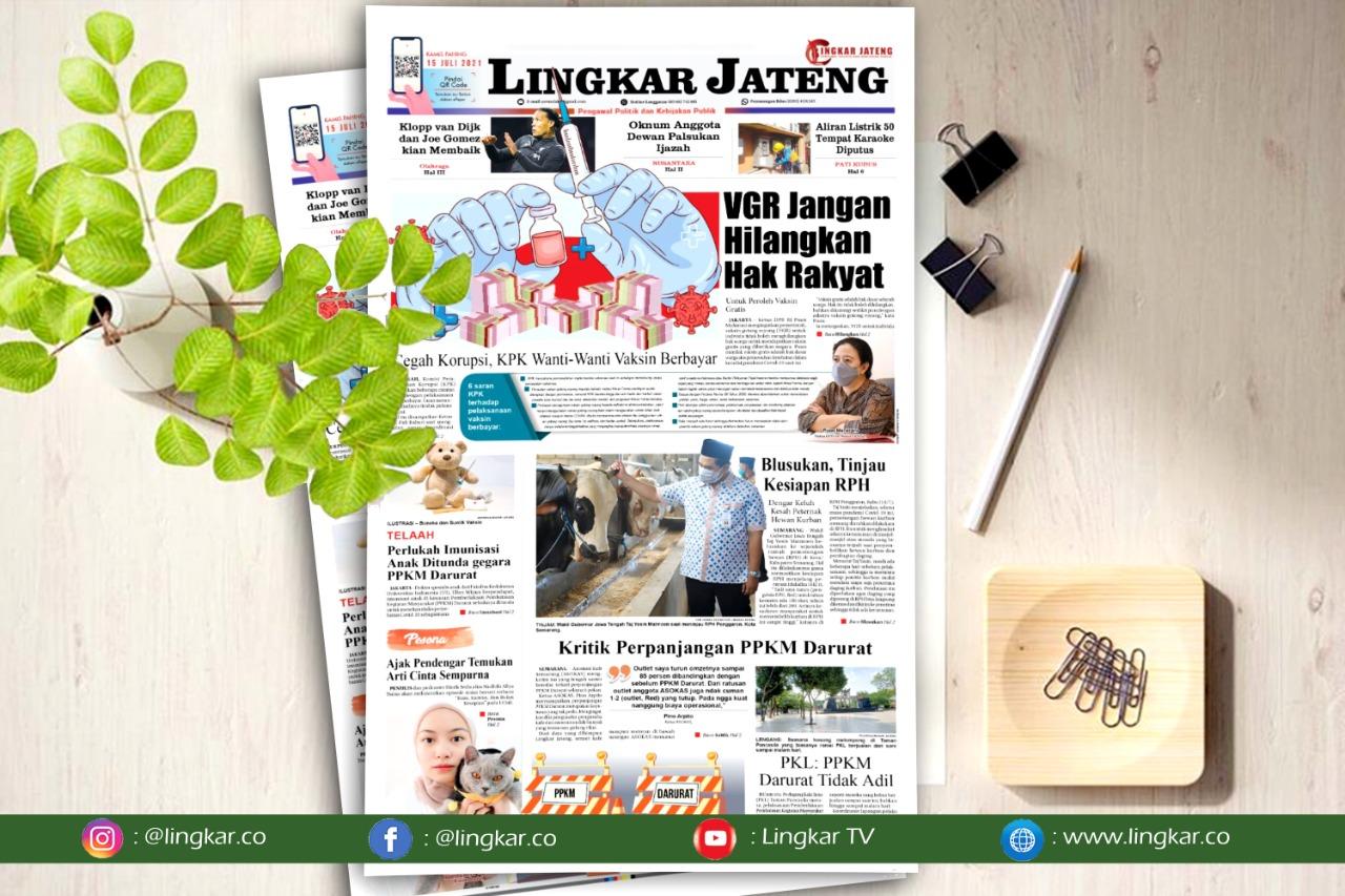Koran Digital Lingkar Edisi Kamis 15 Juli 2021
