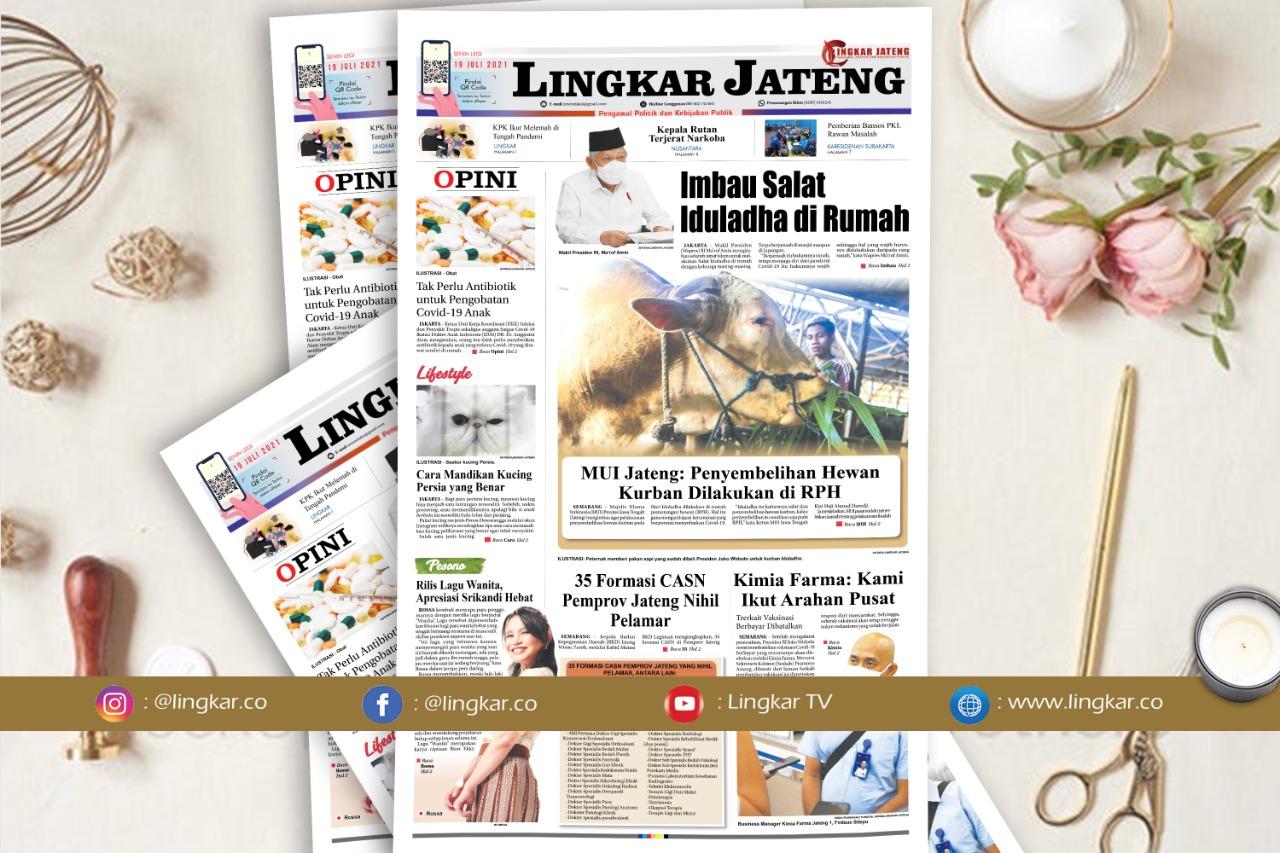 Koran Digital Lingkar Edisi Senin 19 Juli 2021