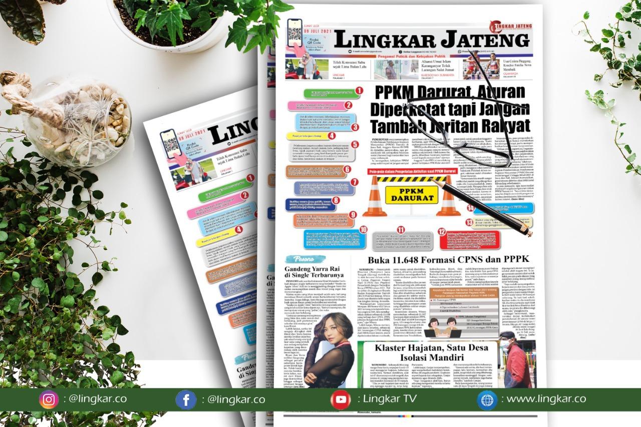 Koran Digital Lingkar Edisi Jumat 09 Juli 2021