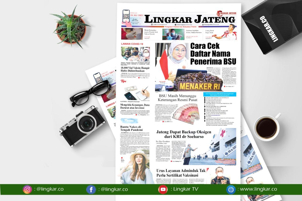 Koran Digital Lingkar Edisi Kamis 29 Juli 2021