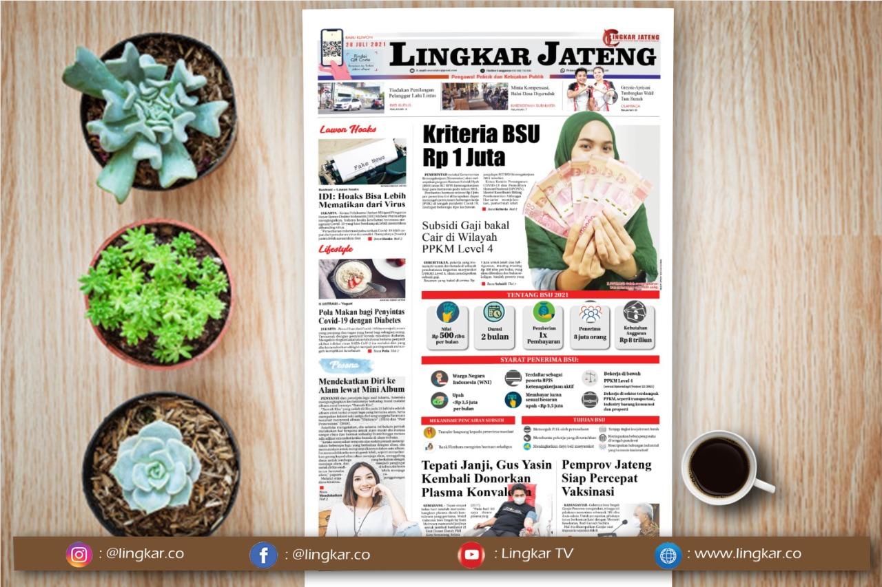 Koran Digital Lingkar Edisi rabu 28 Juli 2021