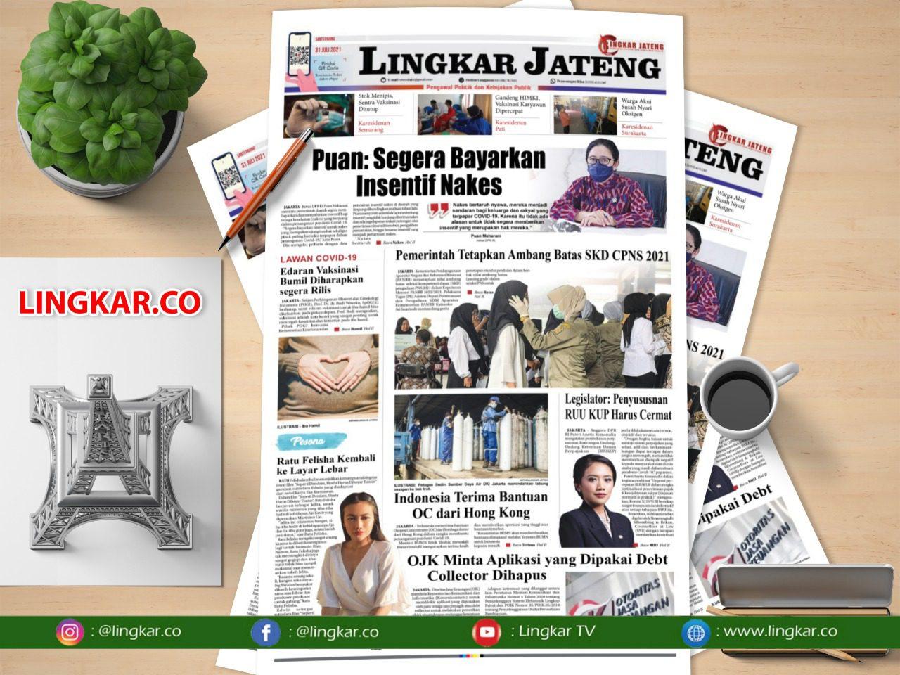 Koran Digital Lingkar Edisi Sabtu 31 Juli 2021