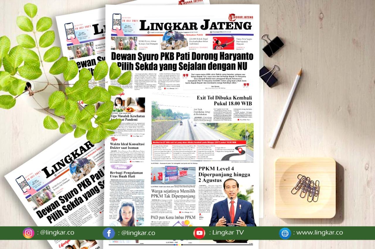 Koran Digital Lingkar Edisi Senin 25 Juli 2021