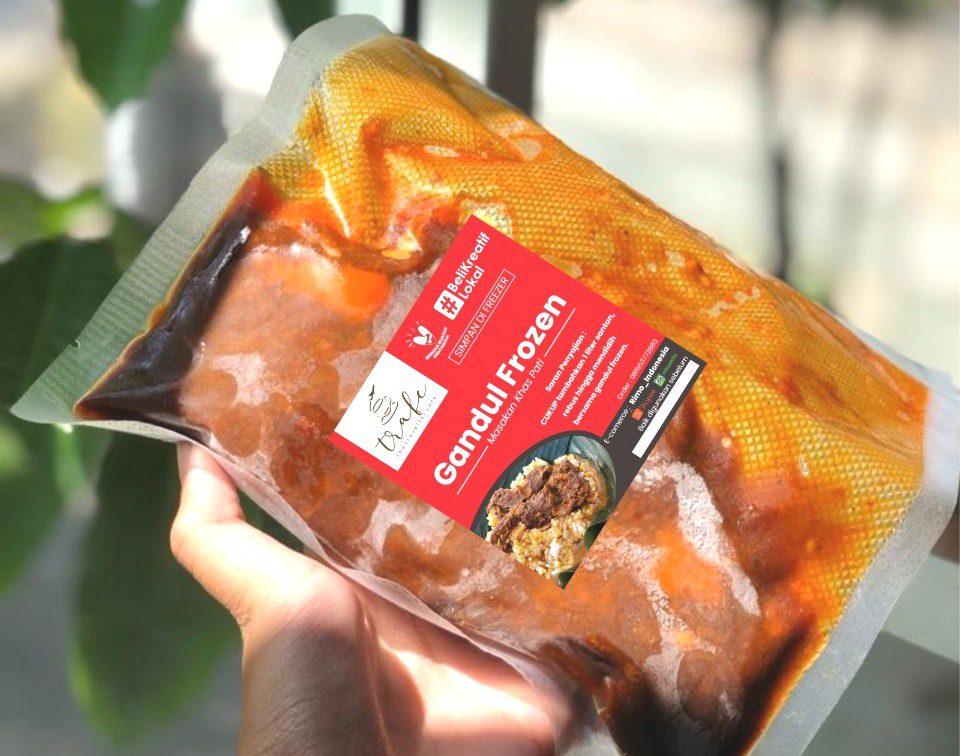 FOTO: Makanan gandul frozen khas Kabupaten Pati. (ISTIMEWA/LINGKAR.CO)