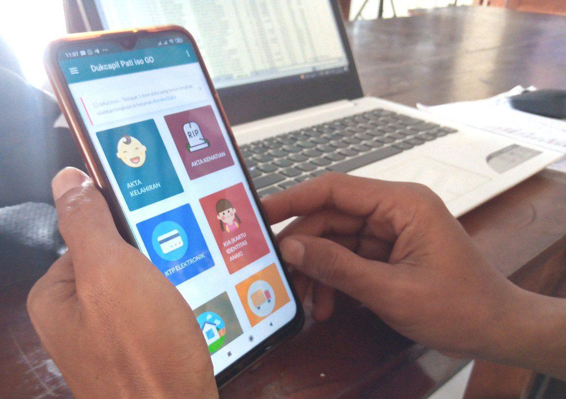 ILUSTRASI: Tampilan awal aplikasi Pati Iso Go. (IBNU MUNTAHA/LINGKAR.CO)