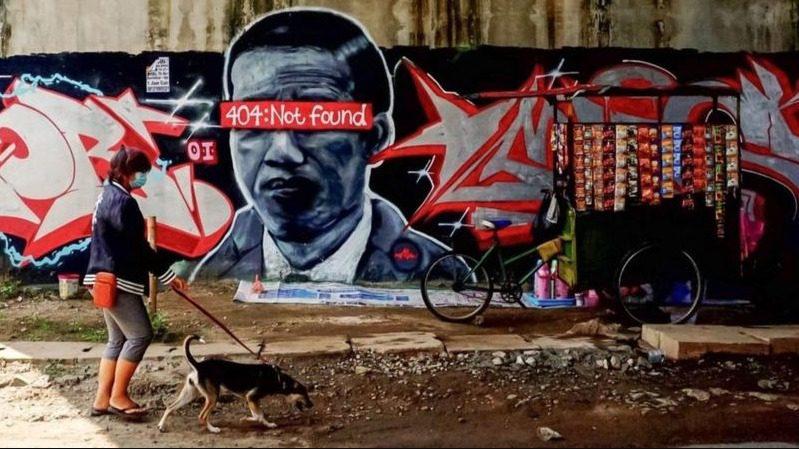 ILUSTRASI: Mural di Kota Tangerang, Banten, sebelum akhirnya dihapus. (ISTIMEWA/LINGKAR.CO)