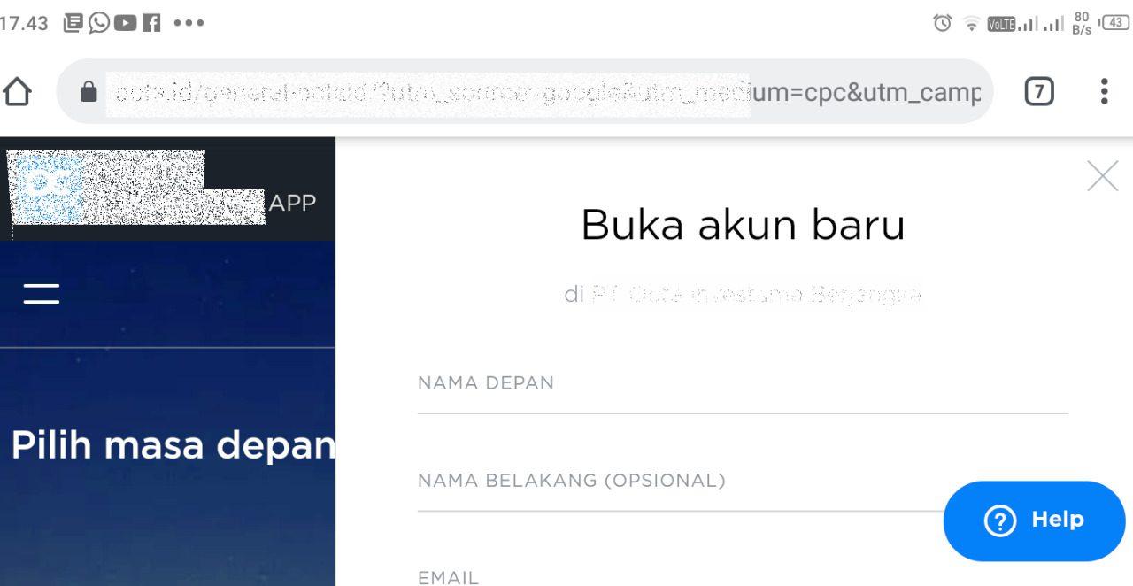 ILUSTRASI: Form pendaftaran pada bisnis online lewat website. (IBNU MUNTAHA/LINGKAR.CO)