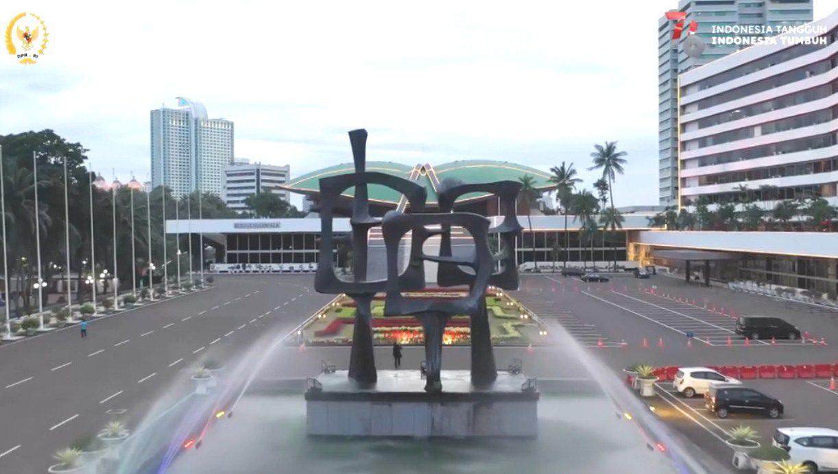 TAMPAK DEPAN: Gedung MPR/DPR/DPD RI di Kompleks Parlemen Senayan, Jakarta. (ISTIMEWA/LINGKAR.CO)