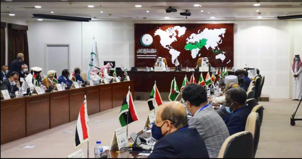 Pertemuan luar biasa terbuka Komite Eksekutif OKI Setingkat Wakil Tetap tentang situasi di Afghanistan, berlangsung di Markas OKI Jeddah, Minggu (22/8/2021). FOTO; KBRI di Riyadh/LIngkar.co