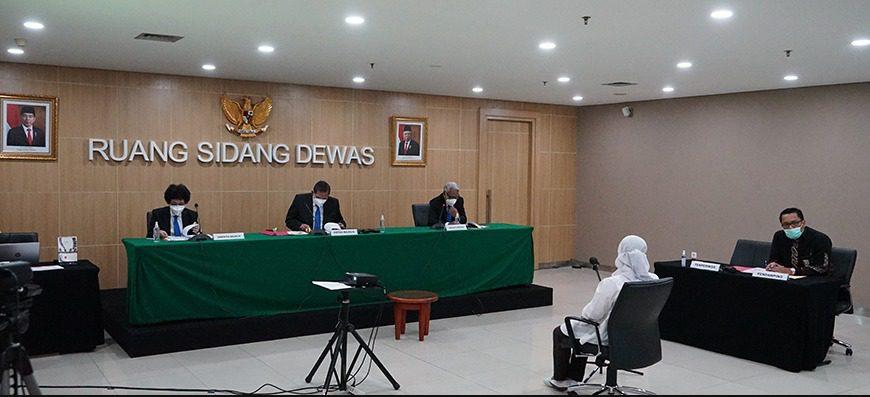 Suasana Sidang etik KPK dengan terperiksa Wakil Ketua KPK, Lili Pintauli Siregar, Senin (30/8/2021). FOTO: Dok. KPK/Lingkar.co