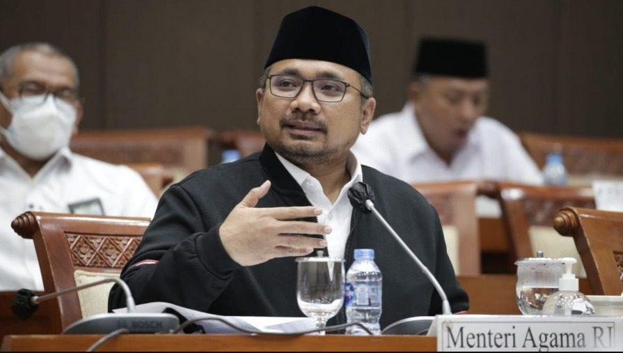 Menteri Agama (Menag) Yaqut Cholil Qoumas, dalam Rapat Kerja dengan Komisi VIII DPR RI, Senin (30/8/2021). FOTO: Humas Kemenag/Lingkar.co