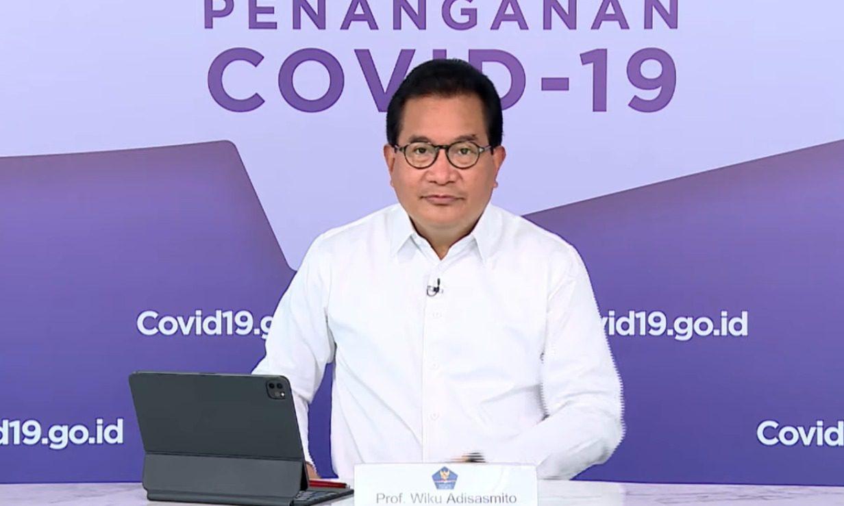 Jubir Satgas Penanganan Covid-19, Prof Wiku Adisasmito, dalam keterangan pers virtual melalui kanal YouTube Setpres, Selasa (31/8/2021). FOTO: Tangkap layar/Lingkar.co