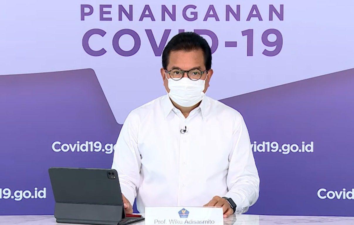 Juru Bicara Satgas Penanganan Covid-19, Prof Wiku Adisasmito, dalam keterangan pers virtual melalui kanal YouTube Setpres, Selasa (31/8/2021) malam. FOTO: Tangkap Layar/Lingkar.co