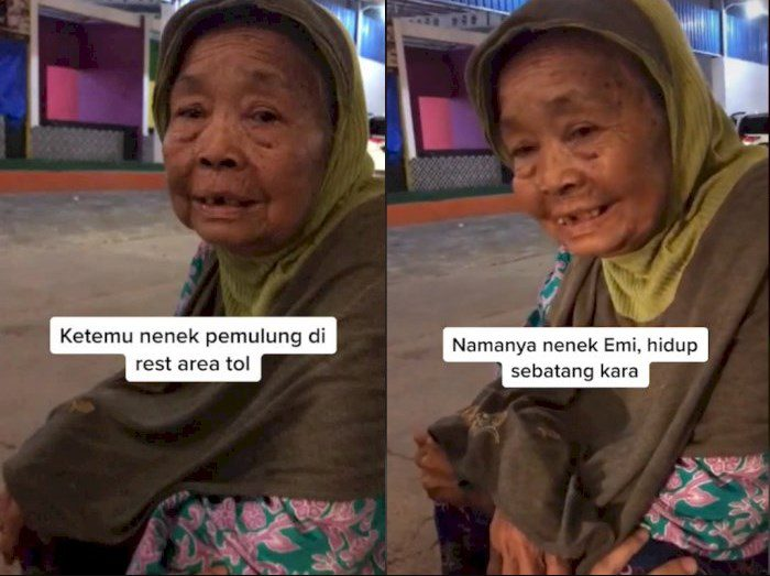 Nenek Pemulung Viral di Tiktok. ISTIMEWA/LINGKAR.CO