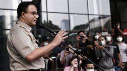Gubernur DKI Jakarta, Anies Baswedan, saat memberikan keterang pers depan Gedung KPK, Selasa (21/9/2021). FOTO: Instagram @aniesbaswedan/Lingkar.co