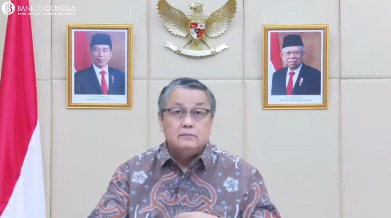 Gubernur Bank Indonesia (BI), Perry Warjiyo, dalam konferensi pers secara daring, Selasa (21/9/2021). FOTO: Tangkap layar/Lingkar.co