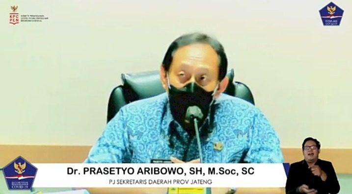Masa jabatan Penjabat Sekda Provinsi Jateng, Prasetyo Aribowo, akan berakhir November 2021. FOTO: Tangkap layar/Lingkar.co