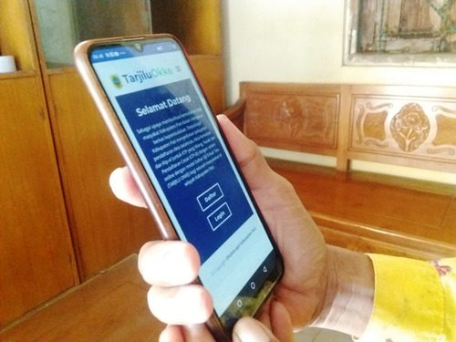 ILUSTRASI: Tampilan aplikasi Tarjilu Okke pada gawai berbasis android. (IBNU MUNTAHA/LINGKAR.CO)