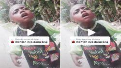 Tangkapan layar video tiktok pemotor temukan bocah di jalan Trans Papua. TIKTOK/LINGKAR.CO