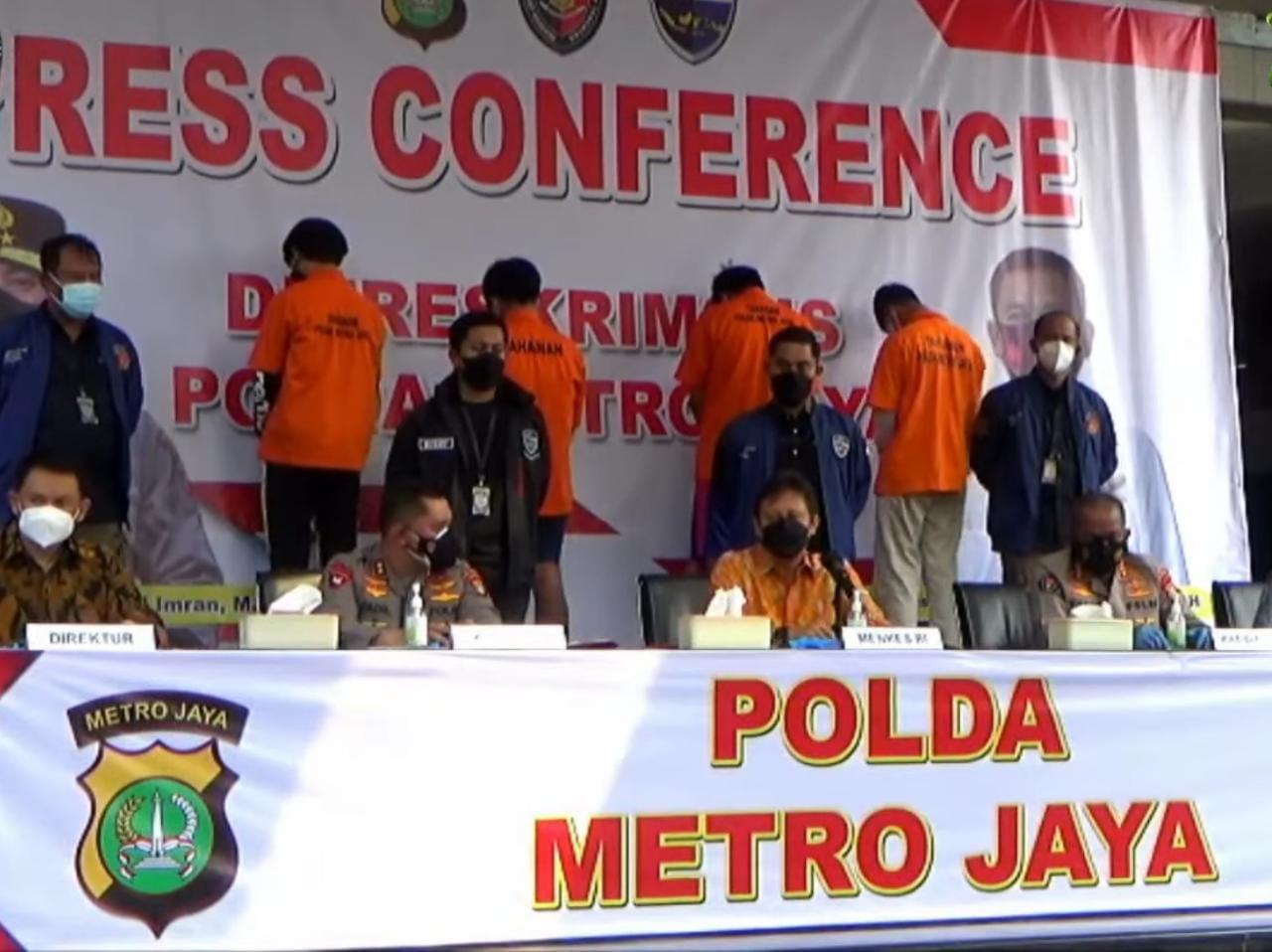 Menkes Budi Gunadi Sadikin, dalam jumpa pers di Polda Metro Jaya, Jakarta, Jumat (3/9/2021). FOTO: Tangkap layar Youtube/Lingkar.co