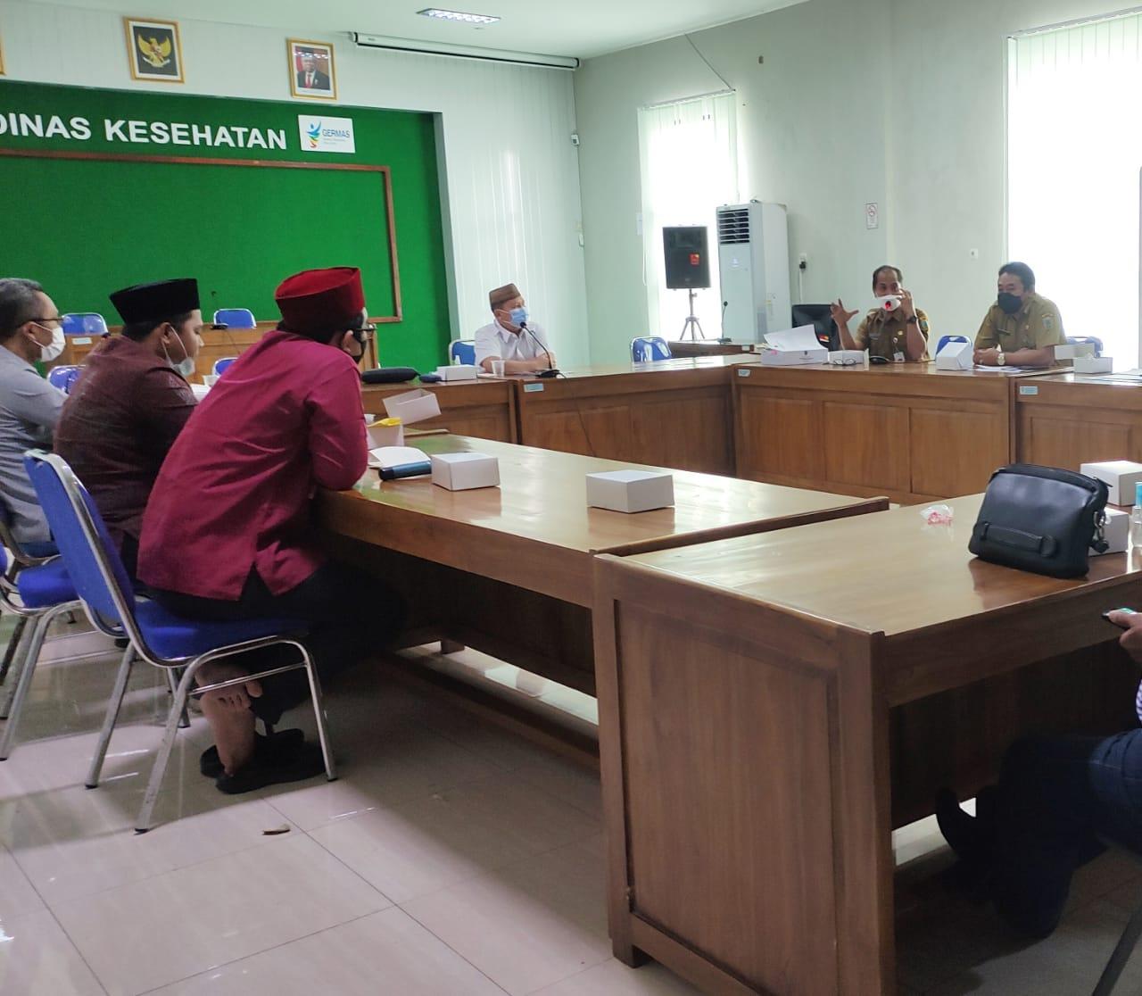 rapat kerja Komisi D DPRD Kudus di aula kantor DKK.