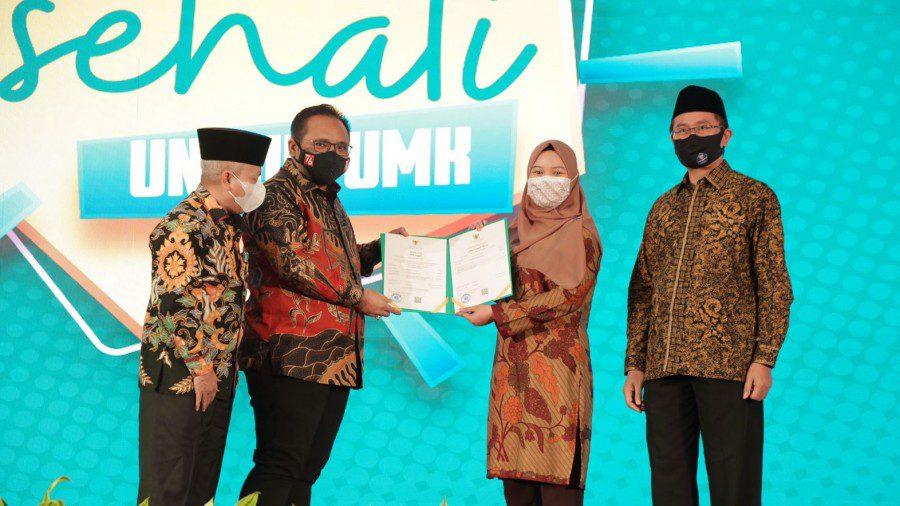 Peluncuran Sehati oleh Menteri Agama (Menag) Yaqut Cholil Qoumas, secara hybrid dan terpusat di Aula Gedung Kemenag RI, Jakarta, Rabu (8/9/2021). POTO; Kemenag/Lingkat.co
