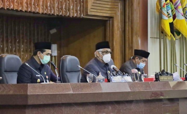 Rapat paripurna membahas tentang Laporan Bapemperda mengenai Perubahan Propemperda (10/9/2021)/ Humas DPRD Prov Jateng. FOTO: Humas/Rezanda Akbar Lingkar.co