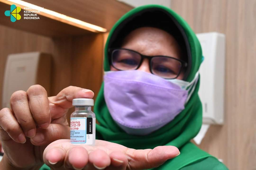 Vaksin moderna booster untuk nakes. kemenkes/Lingkar.co