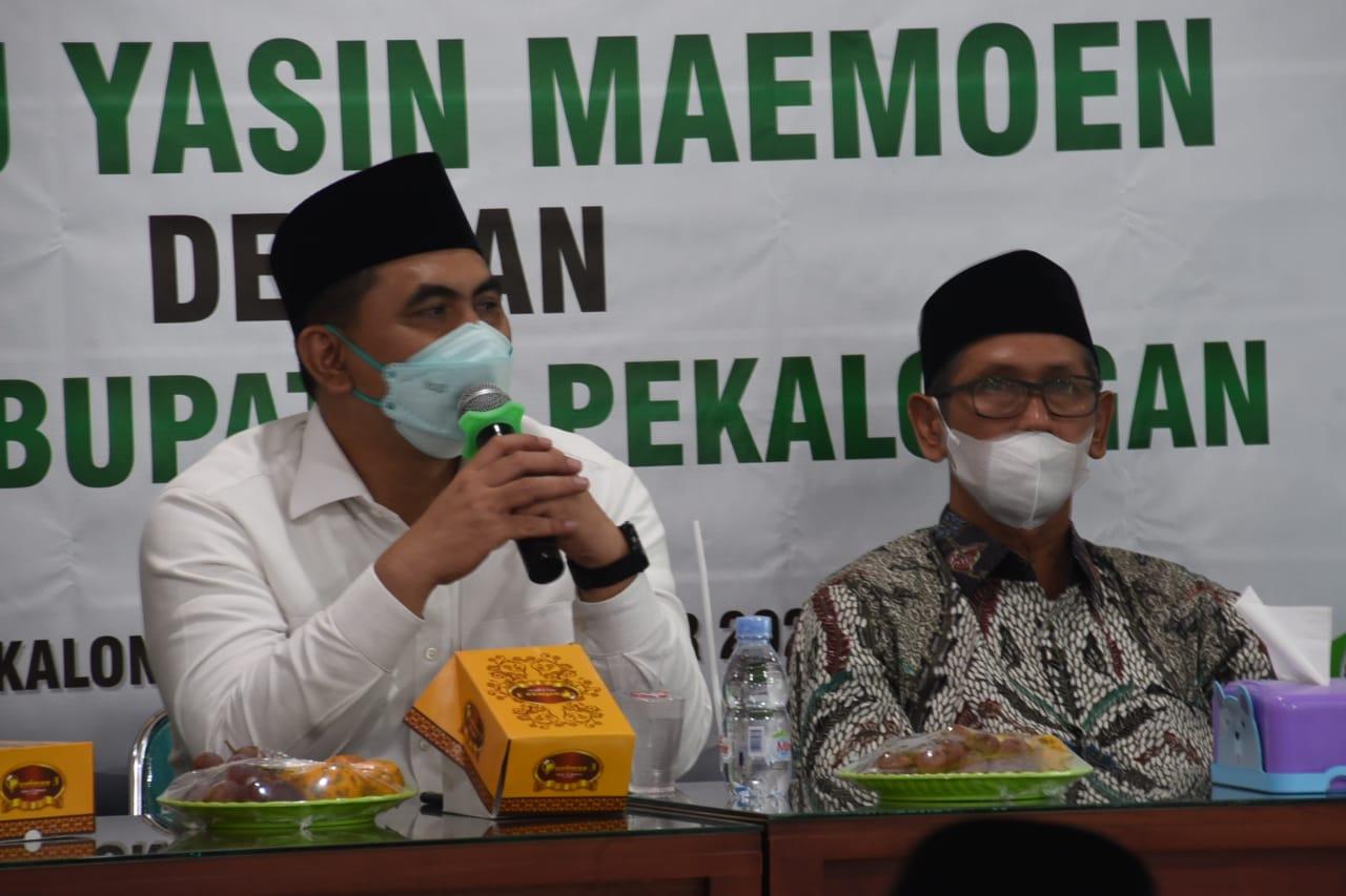 Wagub Jateng saat bahas penggunaan pupuk organik bagi tani dengan NU. Tim H2. Foto: Rezanda Akbar D./Lingkar.co