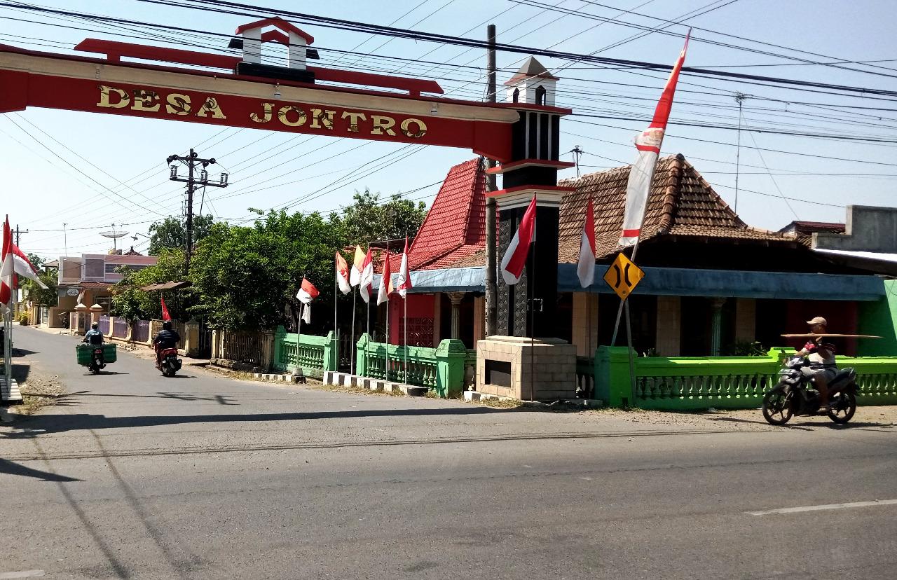 ILUSTRASI : Gapura Desa Jontro, Kecaamatan Wedarijaksa. Lingkar.co