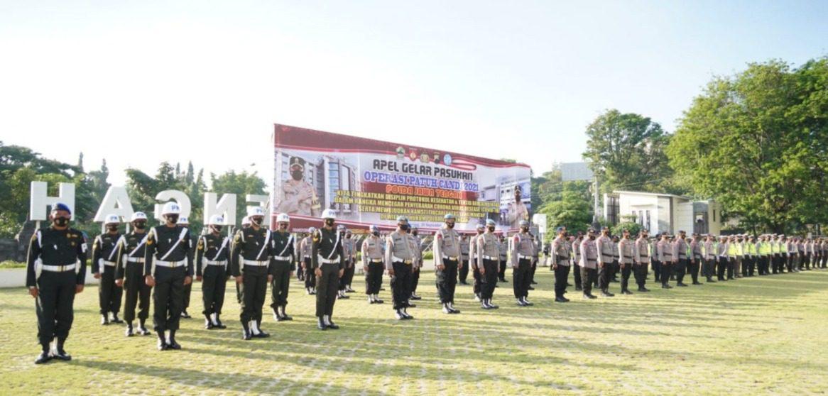 Apel Gelar Pasukan Operasi Patuh Candi tahun 2021, di halaman Mapolda Jateng, Senin (20/9/2021). FOTO: Humas Polda Jateng/Lingkar.co