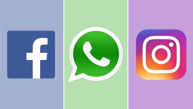 Ilustrasi gambar media icon media sosial yang down