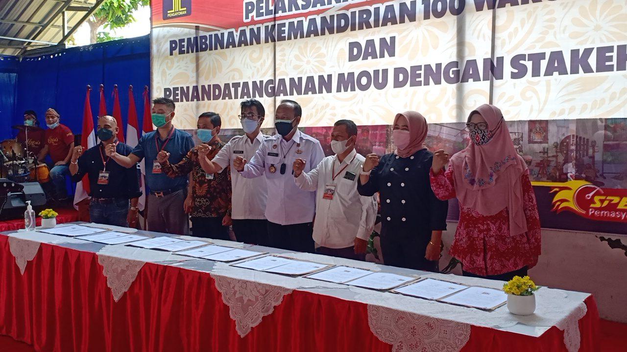 Penandatanganan Pelatihan Untuk Masyarakat Binaan, Rezanda Akbar D/Lingkar.co