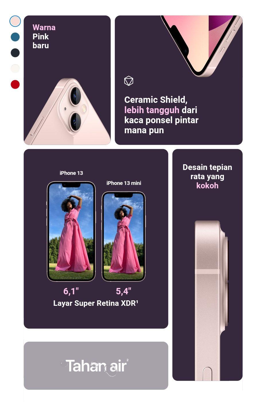 Tangkap layar iPhone 13 official website Apple / Lingkar.co
